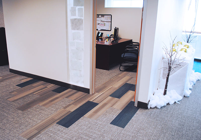 Carpet installed by InteriorWorx Commercial Flooring